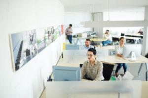 Employés dans un service informatique